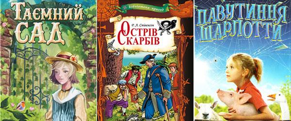 """Як вибрати книжку для читання дитині. """"Таємний сад"""" (Френсіс Бернетт), """"Острів скарбів"""" (Роберт Луїс Стівенсон), """"Павутиння Шарлотти"""" (Елвін Брукс Уайт)"""